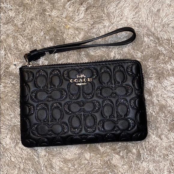 Wristlet Wallet Card Case-Glitter Leather